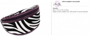 Zebra Purple Sunglass Case