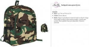 Camo Brown Backpack