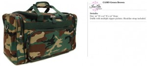 Camo Brown Duffle Bag