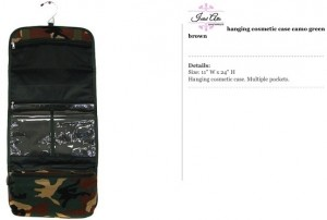 Camo Brown Hanging Travel Bag
