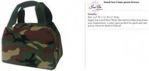 Camo Brown Lunch Bag