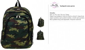 Camo Green Backpack