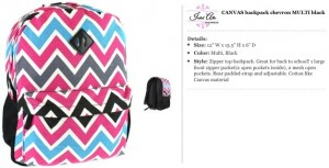 Chevron Canvas Multi Backpack