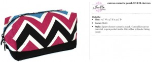Chevron Canvas Multi Cosmetic Pouch