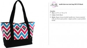 Chevron Canvas Multi Tote