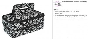 Floral Black Casserole Carrier