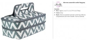 Chevron Grey Casserole Carrier