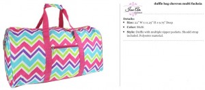 Chevron Multi Duffle Bag