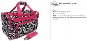 Floral Black & Fuchsia Duffle Bag