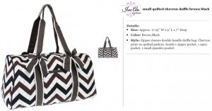 Quilted Chevron Duffle Small brown black
