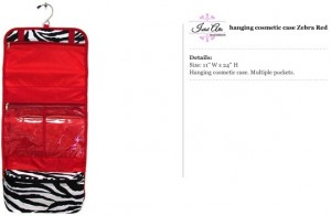 Zebra Red Hanging Travel Bag