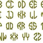2 letter circle monogram alpha